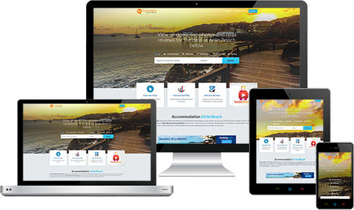 Accommodation Airlie Beach displayed beautifully on multiple devices